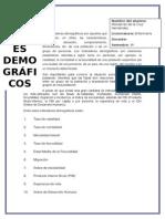 INDICADORES DEMOGRÁFICOS (RESÚMEN)