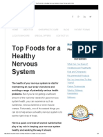 Top Foods for a Healthy Nervous System