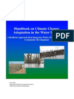 Handbook on Climate Change Adaptation in the Water Sector Ver.1 2011
