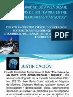 unidad de Aprendizaje Cuarto Encuentro Estatal de Operación Matematica