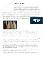 Sistem Usaha Baju Busana Muslim