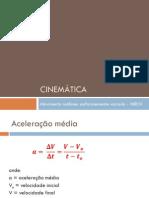 Cinemática MRUV