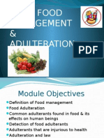 Food Production & Adulteration