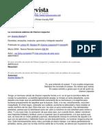 Nueva Revista - La Conciencia Adanica de Clarice Lispector