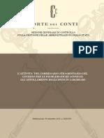 """Relazione della Corte Conti sul """"Piano Carceri"""" del Governo italiano"""