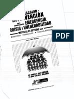 Guia Escolar de Intervencion Para Situaciones de Emergencia Crisis y Vulnerabilidad 1