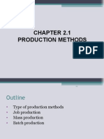 Chapter 2.1 Production Method