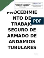 Procedimiento de Trabajo Seguro de Armado de Andamios