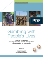 Gambling People's Lives