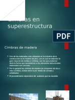Cimbras en Superestructura