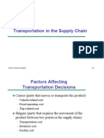 Transportation and Inventory Aggregation in Supply Chain Managemen