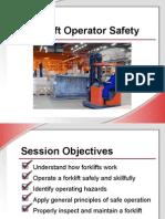 Forklift Operator Safety