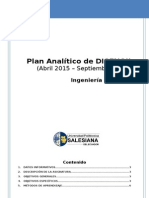 A Plan Analitico Diseno II - 2015