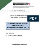 Plan de Monitoreo 2015