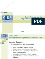 Training and the Organization's Strategic Plan