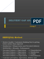 Delivery Gap Analysis
