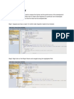 SAP Code Inspector - Scenario