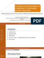 Modeling Inter-vehicle Communication in Multi-lane Highways