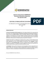 Guia para la formulación del Plan Operativo 2010 v1d[1]