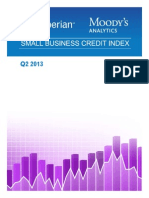 Experian Moodys Analytics Small Business Credit Index q2 2013