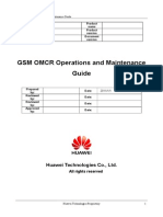 GSM OMCR Operations and Maintenance Guide