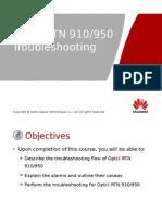 OTF102302 OptiX RTN 910950 Troubleshooting ISSUE1.00