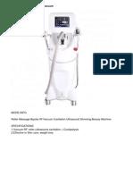 Roller Massage Bipolar Rf Vacuum Cavitation Ultrasound Slimming Beauty Machine