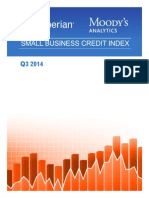 Experian Moodys Analytics Small Business Credit Index q3 2014