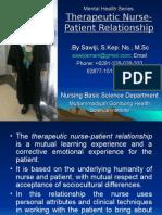 02 Therapeutic Nurse Patient Relationship
