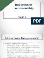 Topic 1_Introduction to Entrepreneurship
