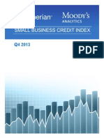 Experian Moodys Analytics Small Business Credit Index q4 2013