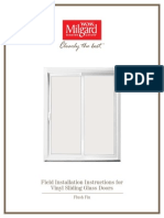 Sliding Door Flush Fin