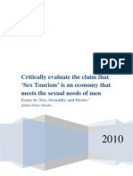 Is 'Sex Tourism' an economy that meets the sexual needs of men?