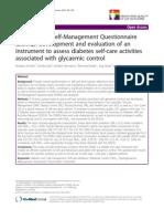 The Diabetes Self-Management Questionnaire