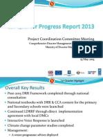 CDMP-1st Quarter Progress Report 2013
