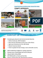 CLIMATE CHANGE ADAPTATION IN REDUCING DISASTER RISK  CDMP'S APPROACH