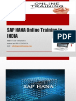 SAP HANA Online Training in INDIA