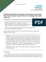 Resolution enhancement in surface plasmon resonance sensor