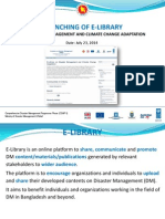E-LIBRARY  ON DISASTER MANAGEMENT AND CLIMATE CHANGE ADAPTATION