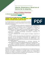 """Politica Financiera Tema """""""