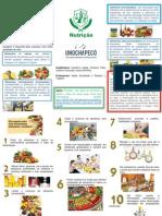 Guia Alimentar 2014 - Folder
