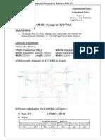 design of io pad
