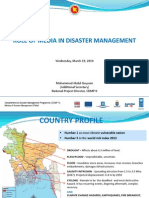 ROLE OF MEDIA IN DISASTER MANAGEMENT