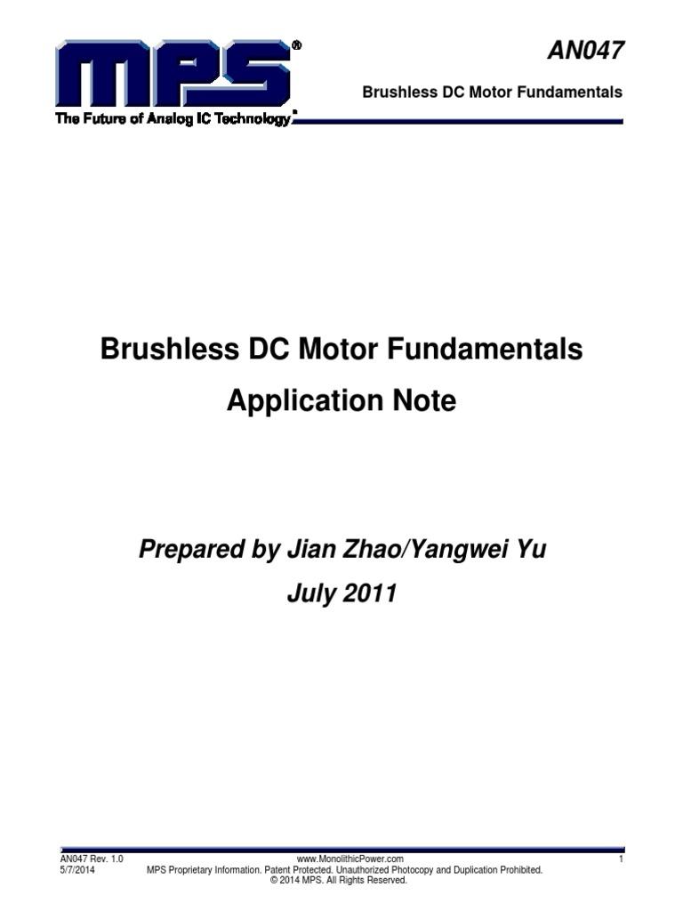 Brushless Dc Motor Fundamentals Controller Circuit Http Wwwdatasheetdircom Pdf Electric Magnetic Field