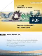 CFD Pro 14.5 L01 Introduction to ANSYS