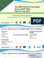 LDRRF Schemes in one district