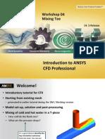 Cfd Pro 14.5 Ws04 Mixing Tee Cfx