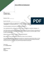 HRGuide Sample Job Offer Letter