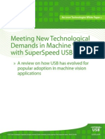 Meeting New Technological Demands in Machine Vision With Superspeed Usb 3 0 White Paper