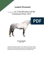 Connemara Pony Discussion Document October 2015